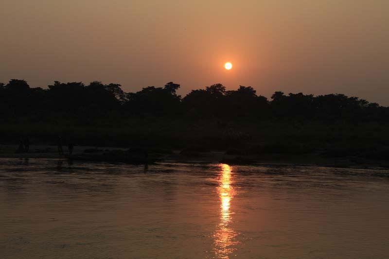 Sunset view at Chitwan